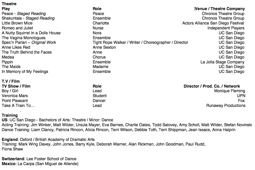 Jakey Toor Theatre and Dance Resume – Dance Resume